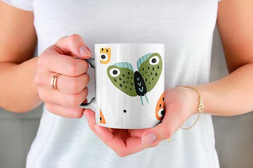 Стилна чаша за кафе с илюстрации на Пеперуди-вар.1 -Безплатна доставка