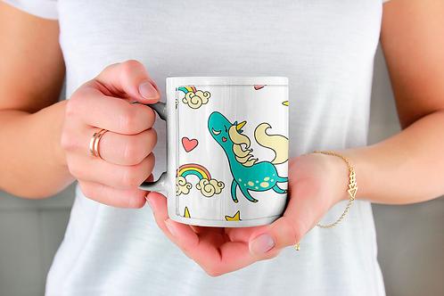 Стилна чаша за кафе с илюстрации на Еднорог-вар.16
