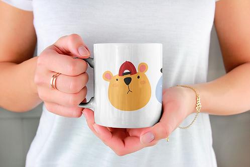Стилна чаша за кафе с илюстрации на Мечки-вар.20