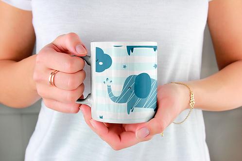 Чаша за кафе с илюстрации на Слончета - вариант 13