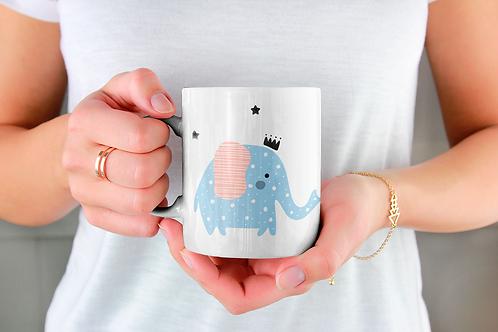 Чаша за кафе с илюстрации на Слончета - вариант 25