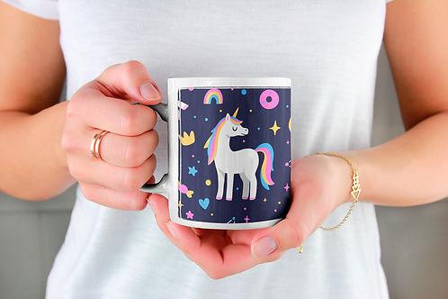 Стилна чаша за кафе с илюстрации на Еднорог-вар.23 -Безплатна доставка