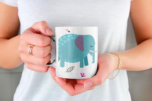 Чаша за кафе с илюстрации на Слончета - вариант 8