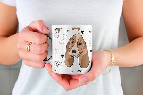 Чаша за кафе с илюстрации на кучета - вариант 31