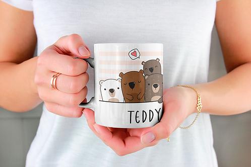 Стилна чаша за кафе с илюстрации на Мечки-вар.15 -Безплатна доставка