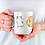 Thumbnail: Стилна чаша за кафе с илюстрации на котки - вариант 7