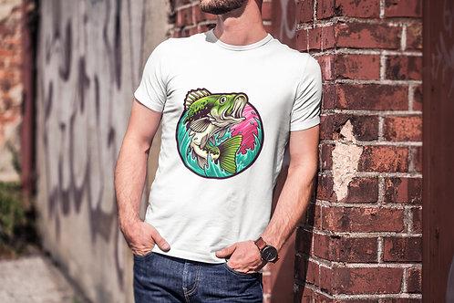 Бяла тениска с Рибарска тематика - Вариант 1 - Безплатна доставка