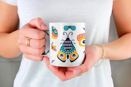 Стилна чаша за кафе с илюстрации на Пеперуди-вар.3 -Безплатна доставка.