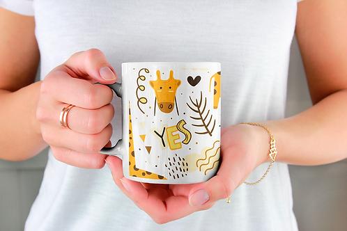 Чаша за кафе със стилни илюстрации на Жирафи-вар.16