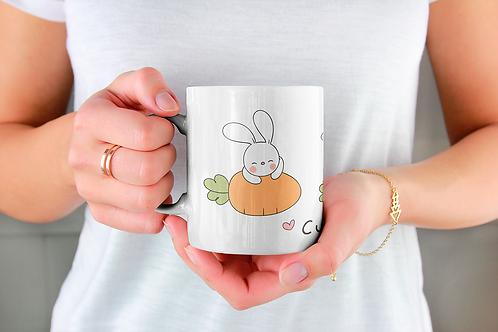 Стилна чаша за кафе с илюстрации на Зайци-вар.17 -Безплатна доставка