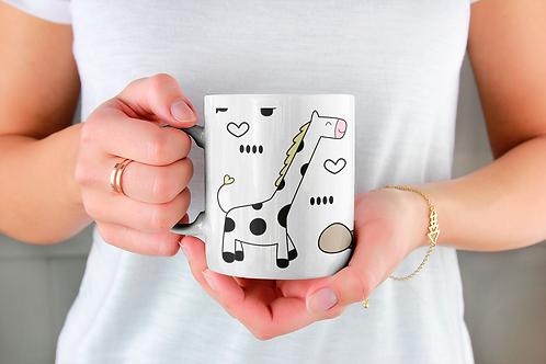 Чаша за кафе със стилни илюстрации на Жирафи-вар.12 -Безплатна доставка