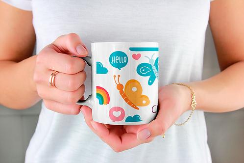 Стилна чаша за кафе с илюстрации на Пеперуди-вар.8 -Безплатна доставка.