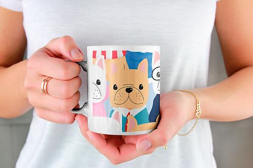 Чаша за кафе с илюстрации на кучета - вариант 26