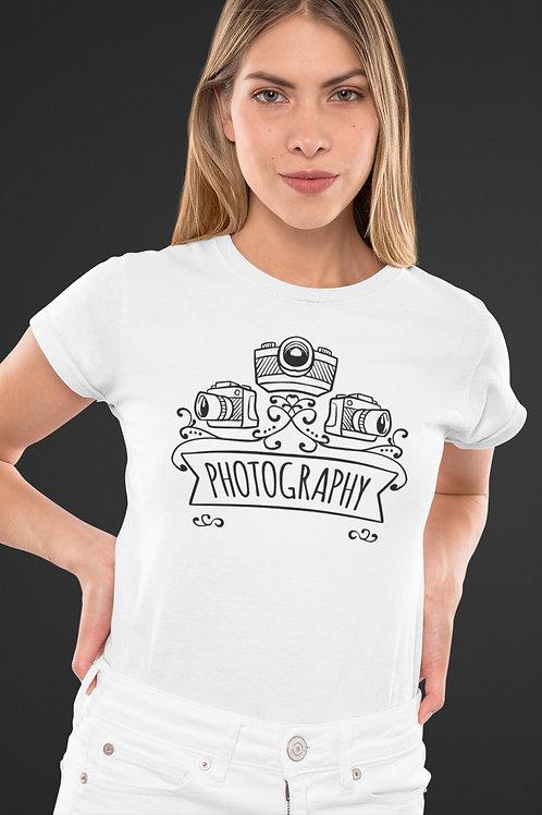 Бяла тениска - Photography - Безплатна доставка