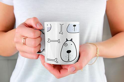 Чаша за кафе с илюстрации на кучета - вариант 28 - Безплатна доставка.