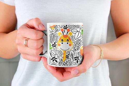 Чаша за кафе със стилни илюстрации на Жирафи-вар.19 -Безплатна доставка