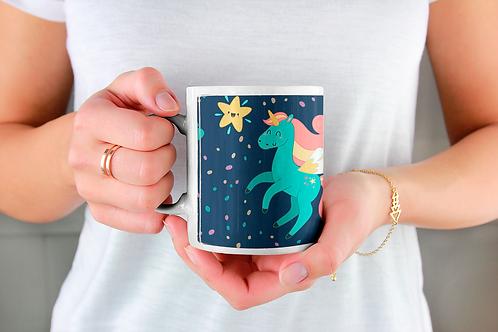 Стилна чаша за кафе с илюстрации на Еднорог-вар.8