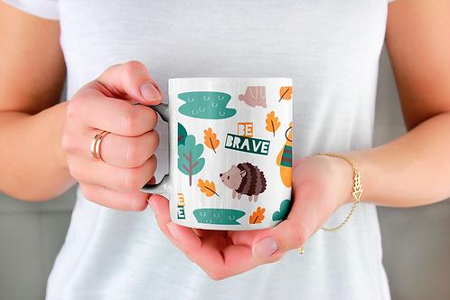 Стилна чаша за кафе с илюстрации на Мечки-вар.1 -Безплатна доставка