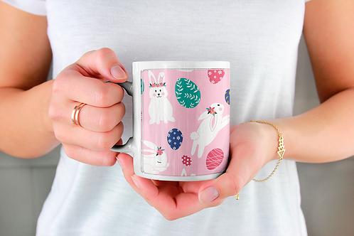 Стилна чаша за кафе с илюстрации на Зайци-вар.5 -Безплатна доставка