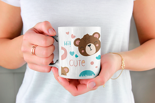 Стилна чаша за кафе с илюстрации на Мечки-вар.11 -Безплатна доставка
