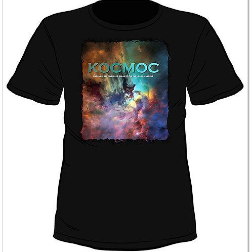 Черна тениска с къс ръкав - KOCMOC - HUBBLE SPACE TELESCOPE IMAGE OF THE THE LAG