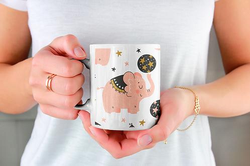 Чаша за кафе с илюстрации на Слончета - вариант 7