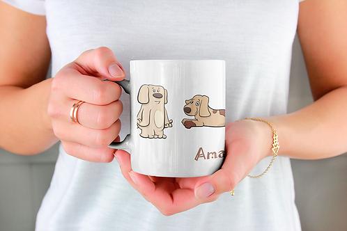 Стилна чаша за кафе с илюстрации на кучета - вариант 2 - Безплатна доста