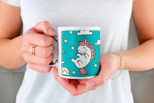 Стилна чаша за кафе с илюстрации на Еднорог-вар.11 -Безплатна доставка