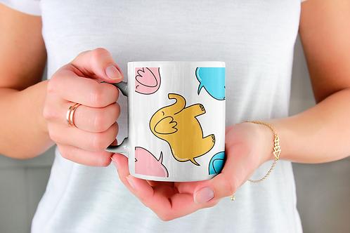 Чаша за кафе с илюстрации на Слончета - вариант 9