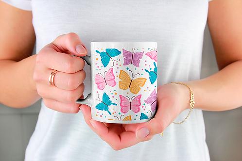 Стилна чаша за кафе с илюстрации на Пеперуди-вар.5