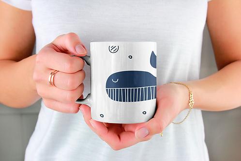 Стилна чаша за кафе с оригинални илюстрации на Риби - вар.18