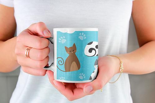 Чаша за кафе със стилни илюстрации на Котки-вар.31