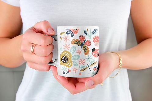 Стилна чаша за кафе с илюстрации на Пеперуди-вар.7