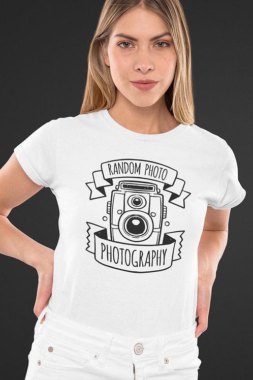 Бяла тениска - Random Photo Photography - Безплатна доставка