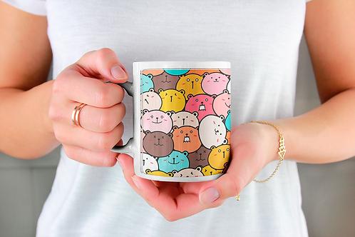 Стилна чаша за кафе с илюстрации на Мечки-вар.10