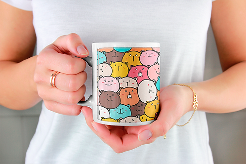 Стилна чаша за кафе с илюстрации на Мечки-вар.10 -Безплатна доставка