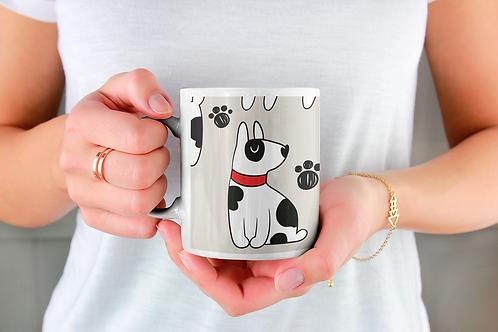 Чаша за кафе с илюстрации на кучета - вариант 20
