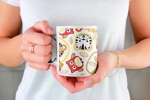 Чаша за кафе със стилни илюстрации на Жирафи-вар.15