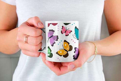 Стилна чаша за кафе с илюстрации на Пеперуди-вар.10 -Безплатна доставка.