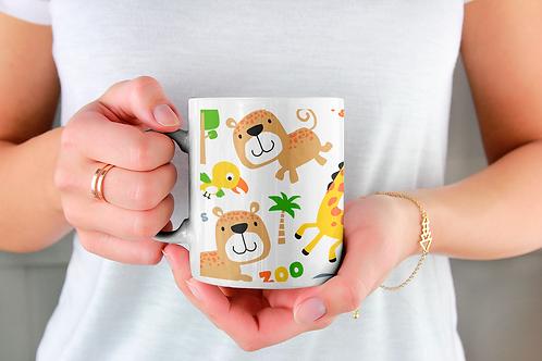 Чаша за кафе със стилни илюстрации на Жирафи-вар.18