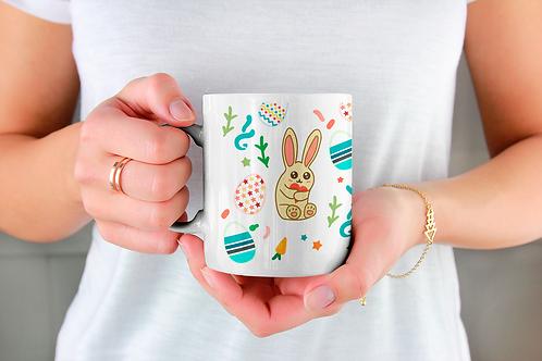Стилна чаша за кафе с илюстрации на Зайци-вар.18 -Безплатна доставка
