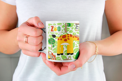 Чаша за кафе със стилни илюстрации на Жирафи-вар.17