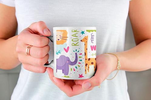 Стилна чаша за кафе с илюстрации на Жирафи-вар.3
