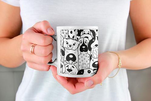 Стилна чаша за кафе с илюстрации на кучета - вариант 14 - Безплатна дост