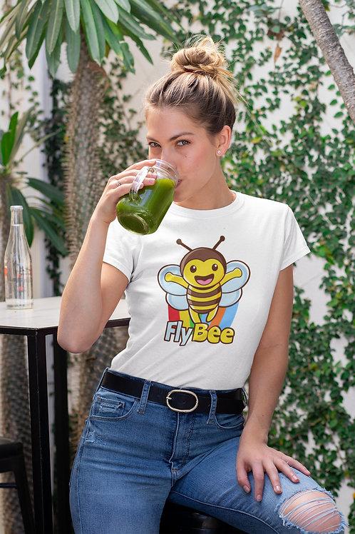 Бяла тениска с илюстрация на Пчели - Вариант 11 - Безплатна доставка