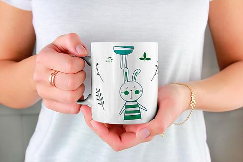 Стилна чаша за кафе с илюстрации на Зайци-вар.9 -Безплатна доставка