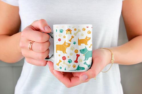 Чаша за кафе с илюстрации на кучета - вариант 34