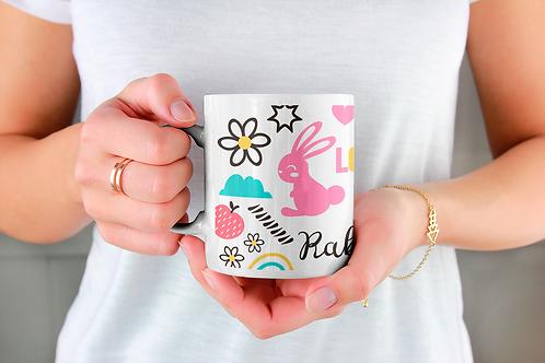 Стилна чаша за кафе с илюстрации на Зайци-вар.14 -Безплатна доставка
