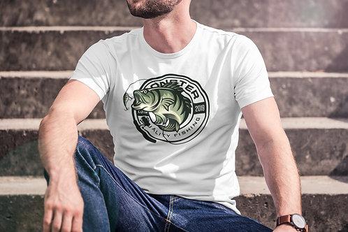 Бяла тениска с Рибарска тематика - Вариант 11 - Безплатна доставка