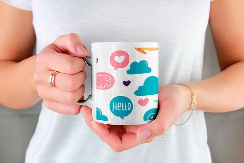Стилна чаша за кафе с илюстрации на Пеперуди-вар.9 -Безплатна доставка.